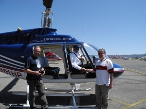 With Captain Mark Hansen and a no door helicopter