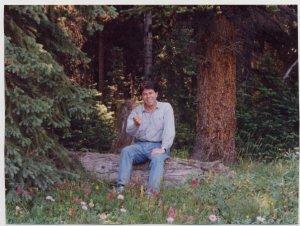 Ian offering flower