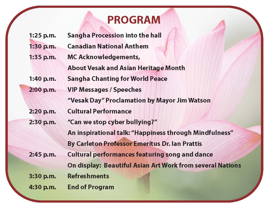 vesak invitation may 4 2014 program 2 february 2014 awakening,Sample Program Invitation