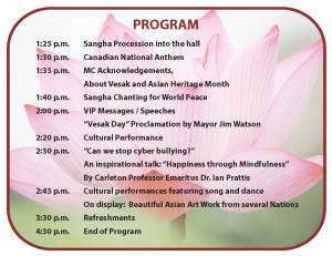 Vesak Invitation May 4 2014 Program (2)