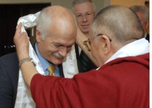 Jack Layton with Dalai Lama