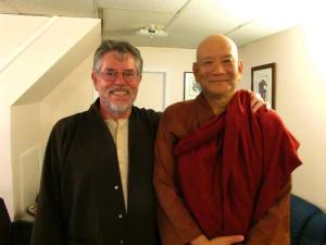 Bhante Kovida and Ian at Pine Gate